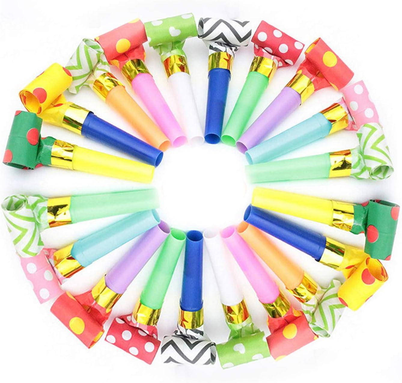 Tröten Kindergeburtstag Luftrüssel Kinder 50 x Partytröten pink Blasrüssel