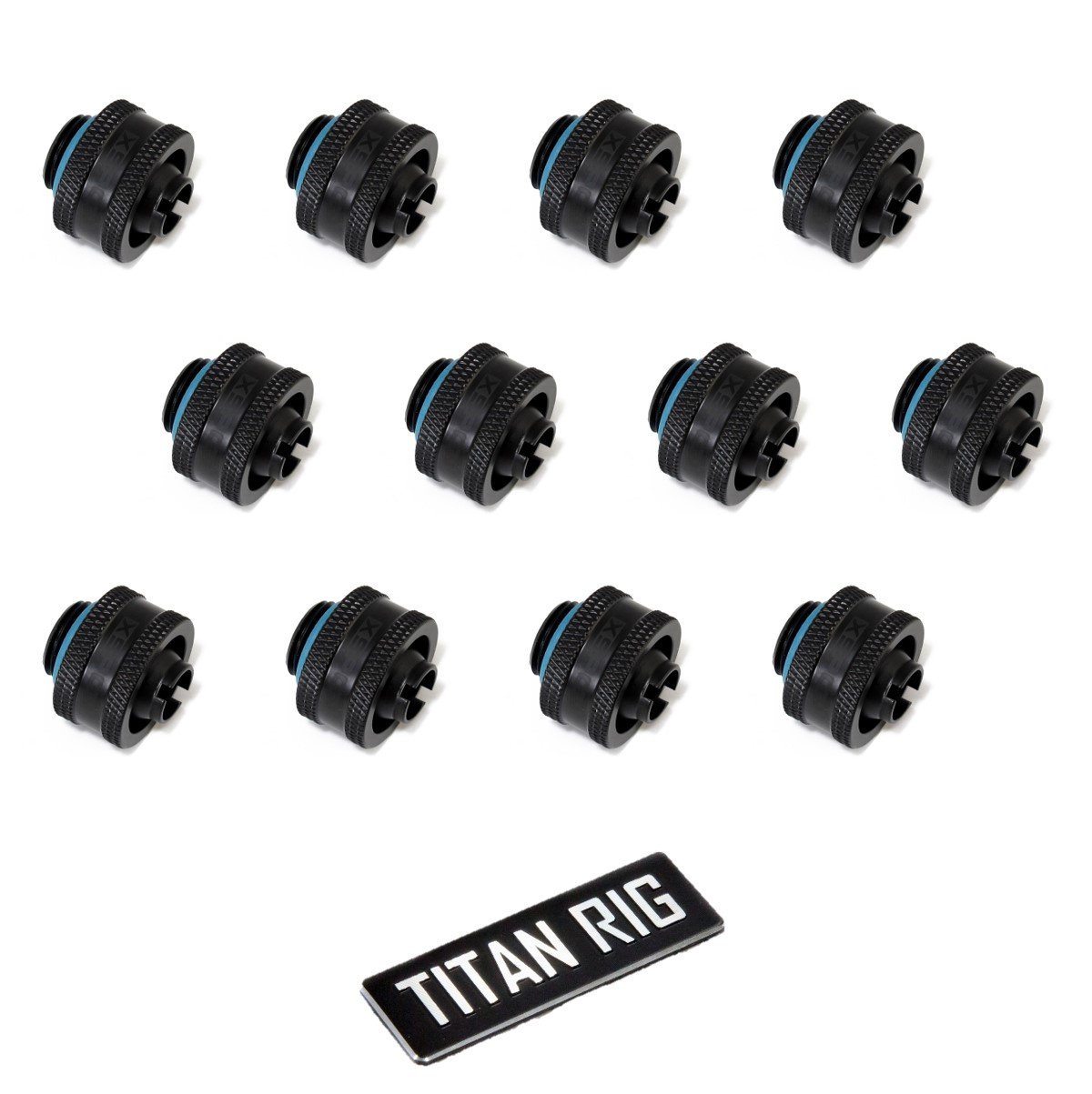 Chrome 12-Pack 5//8 OD Compression Fitting V2 for Soft Tubing XSPC G1//4 to 3//8 ID