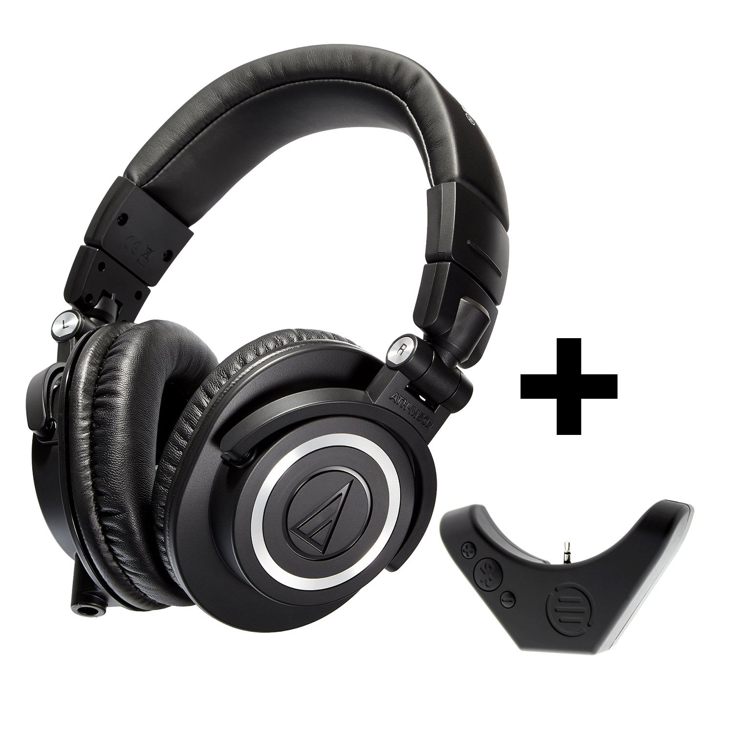 Audio-Technica ATH-M50x Professional Studio Monitor Headphones with Bluetooth Adapter-Amplifier BAL-M50X by Audio-Technica