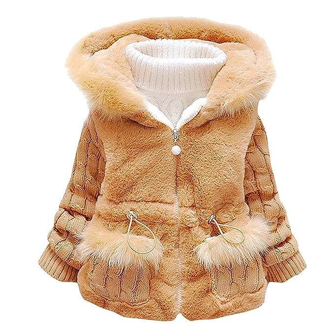 Amazon.com: Bebé Niñas Caliente Invierno Faux Fur Coat ...