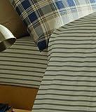 Catherine Lansfield Tartan Stripe Single Bed Fitted Sheet - Navy