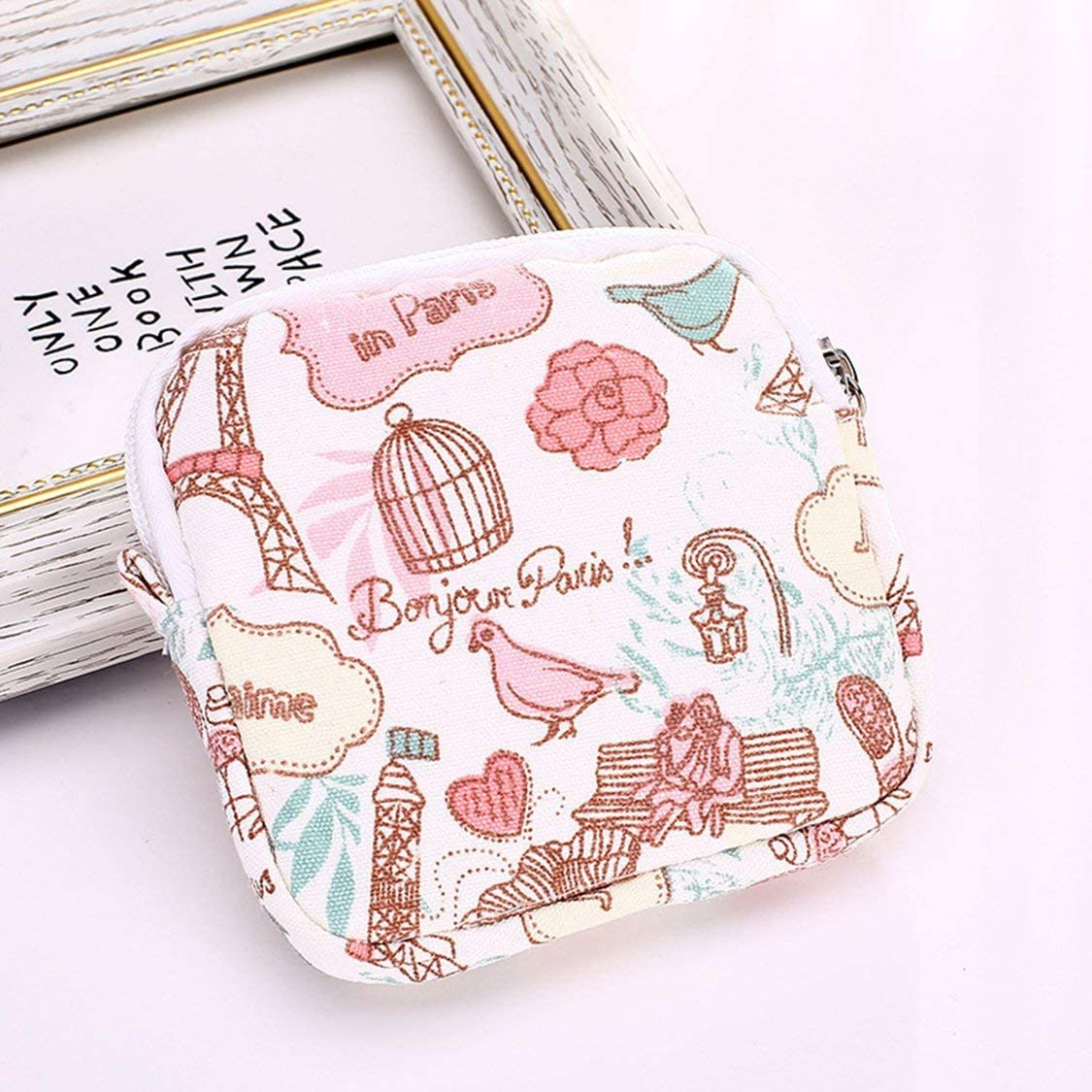 Pequeña y Bonita compresa de algodón para Mujer, Bolsa de Almacenamiento, Gran Capacidad, para niñas, compresas de Mujer: Amazon.es: Bebé