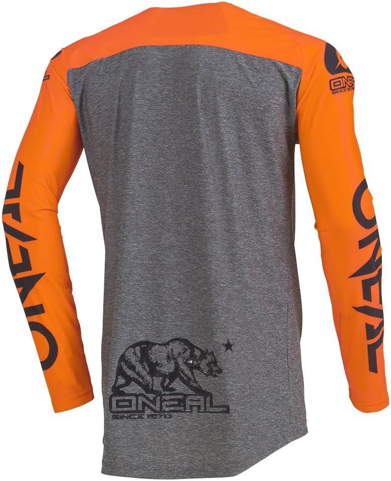 ONeal Mayhem Hexx MX Jersey Trikot lang grau//orange 2020 Oneal Gr/ö/ße 52//54 L
