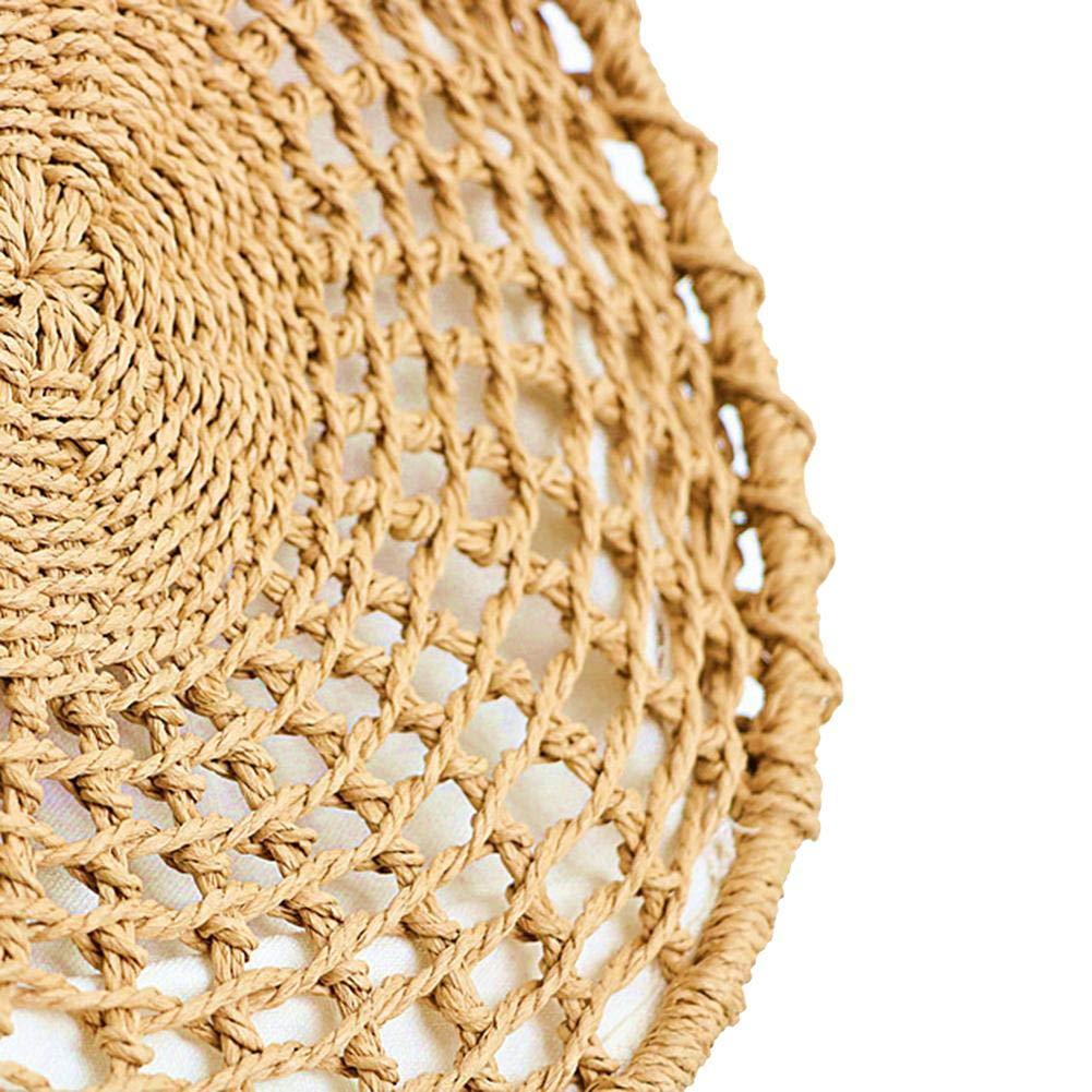 Borsa in Rattan Rotondo Borsa Intrecciata Intrecciata in Paglia Borse a Tracolla in Tessuto Borsa a Tracolla in Tessuto per Viaggi quotidiani Uso 30 X 8 cm