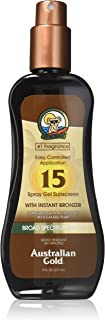 product image for Australian Gold Spray Gel Sunscreen with Instant Bronzer SPF 15, 8 Ounce | Moisturize & Hydrate Skin | Broad Spectrum | Water Resistant