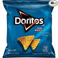 Deals on 40-Pack Doritos Cool Ranch Flavored Tortilla Chips, 1 Ounce