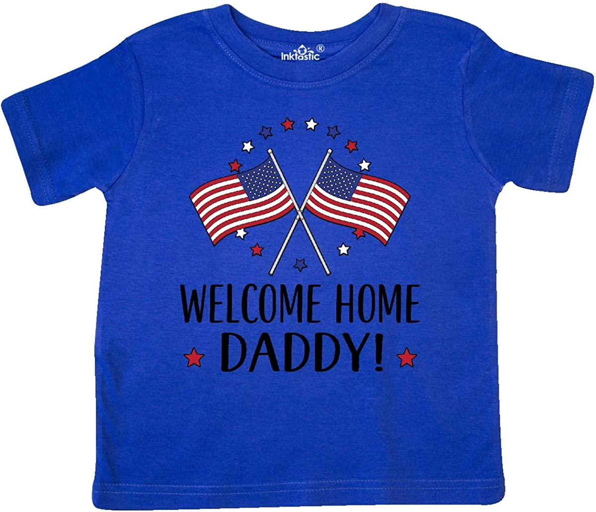 inktastic Military Homecoming Welcome Home Daddy Toddler T-Shirt