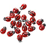 SODIAL 20 Red Lampwork Glass Ladybug Ladybird Loose Beads 12mm HOT