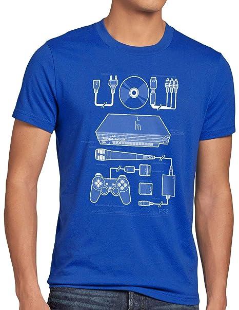 style3 PS2 Gamer Camiseta para Hombre T-Shirt Mando videoconsola: Amazon.es: Ropa y accesorios