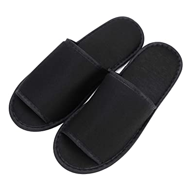 72daa11b1138 Portable Travel Foldable Slippers Open Toe Hotel Spa Slippers Cotton  Non-Disposable Guests Slippers Business Trip Flight Slippers with Pouch Indoor  House ...