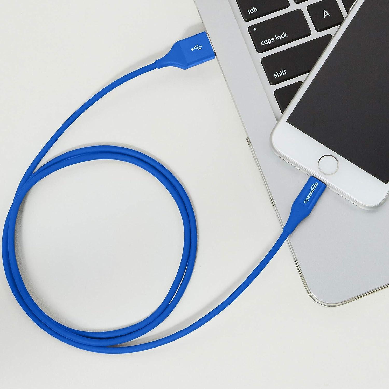 0,9 m Cavo compatibile da USB A a Lightning Grigio Certificato Apple MFi Basics Confezione da 2
