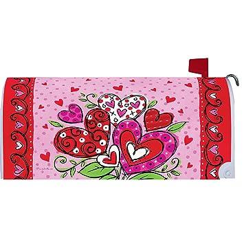 De San Valentín corazones – Buzón makover Cover – Vinilo witn magnético tiras para buzón de