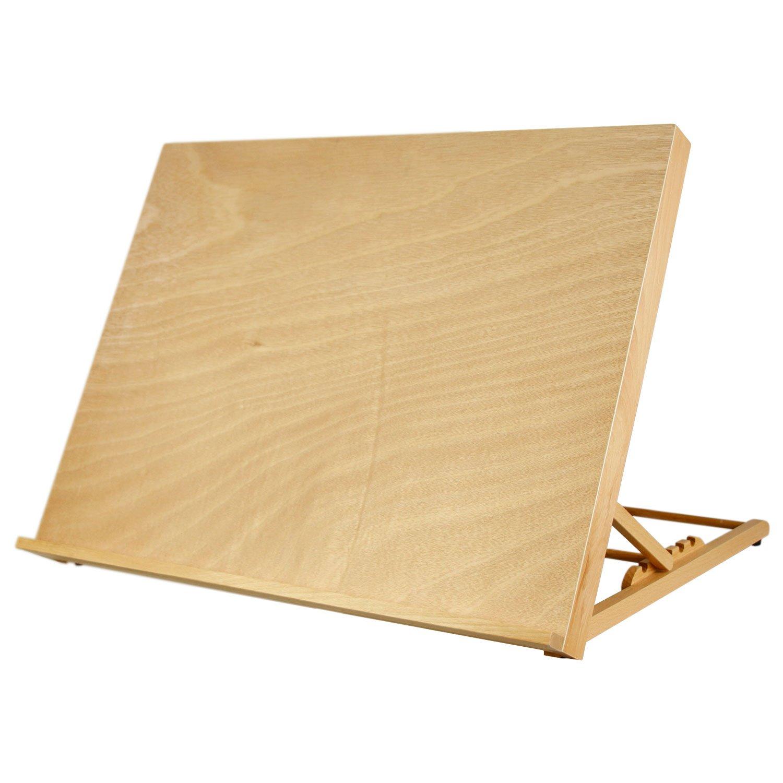 U.S. Art Supply X-Large 25-5/8'' Wide x 19'' Tall (A2) Artist Adjustable Wood Drawing Board