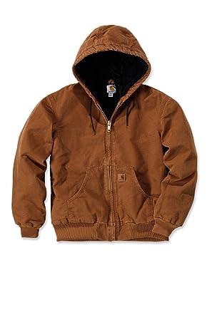Carhartt J130 Quilted Flannel Lined Sandstone Active Jacket - Jacke:  Amazon.de: Bekleidung