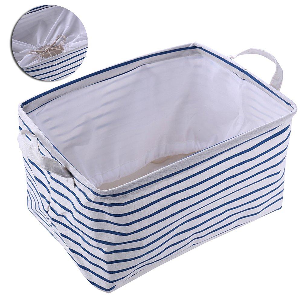 Cubos de gamuza de windyus cajas de almacenamiento cestas contenedores con doble asas para el hogar Closet Dormitorio cajones organizadores, Flodable, rectangular para ropa, juguete almacenamiento cajones