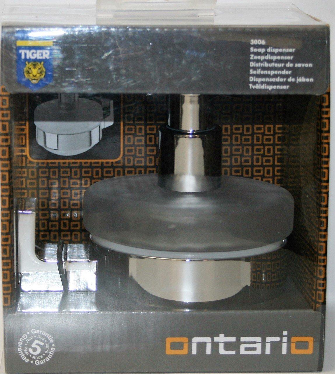 acciaio inox e zama vetro Tiger Ontario Distributore di sapone alluminio