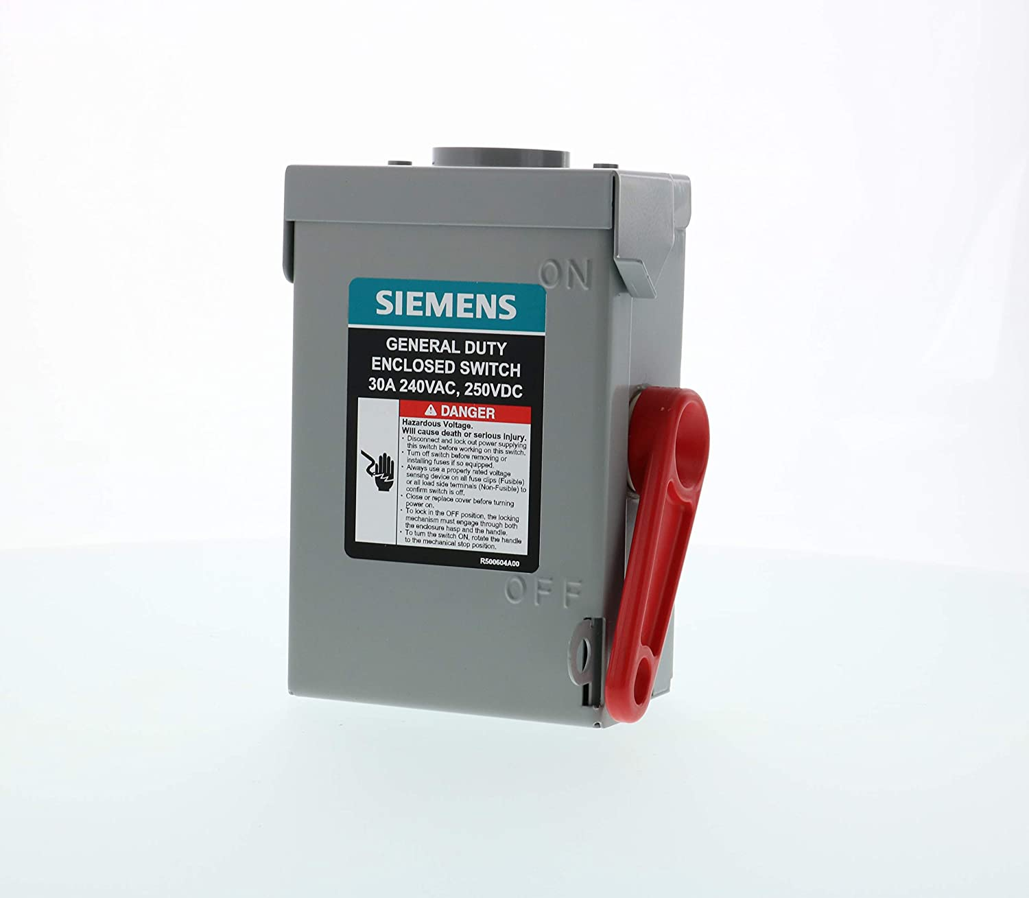 SIEMENS 2P 30A 240V General Duty Safety Switch Outdoor, Non-Fusible - -