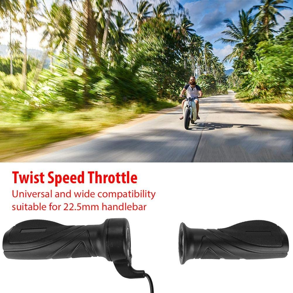 Alomejor Scooter Throttle Grip Electric Bike Throttle Grip Scooter Scooter Twist Grip Mango del Acelerador con Cable Universal Throttle Grip para 22.5mm Manillar