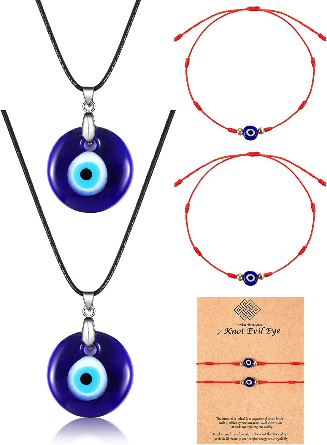 Evil Eye Glass Pendant Necklace Protective Charm Lucky Charm Daily Wear Jewelry Good Luck Amulet Pendant Turkish Eye Greek Eye Necklace