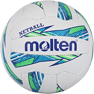 Molten Ballon de netball pour femme Maestro International Level, Vert/bleu, Taille 5