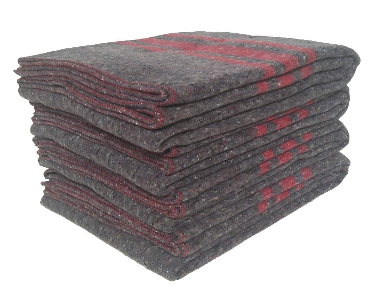Sanz Marti - Mantas Mudanzas 140x200 gruesas Fabricadas en Españ a - pack 4 mantas - roja