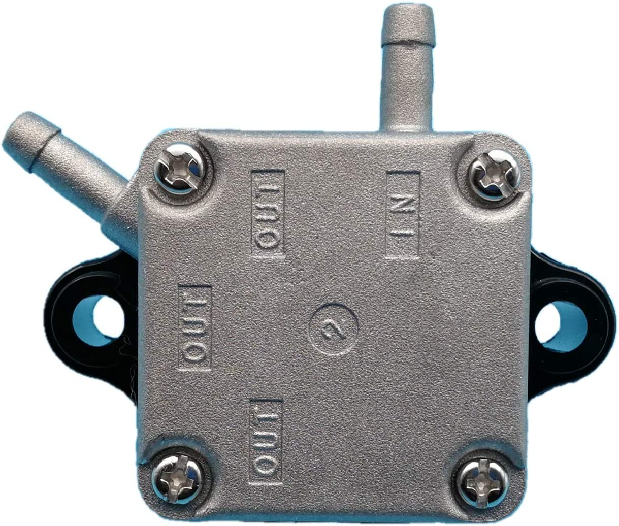 Tuzliufi Replace Fuel Pump Yamaha Mercury Parsun HDX Makara 4-Stroke 2 Cylinders 9.9HP 13.5HP 15HP F15 F13.5 F9.9 Gasoline Outboard Motor 66M-24410-10-00 835389T1 835389T02 835389A2 F15-07140000 Z105