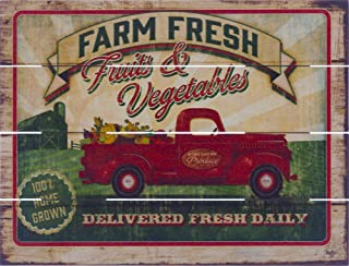 product image for Rustic Pallet Art Farm Fresh Produce - Amish Made in The USA