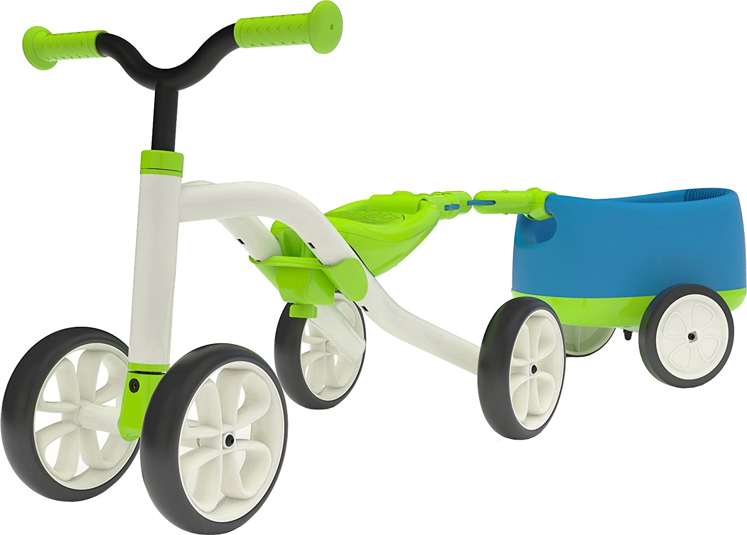 Chillafish QUADIE + TRAILIE: 4-Wheeler Grow-with-Me Ride-On Quad and Trailer Combo, Lime CPQT01LIM