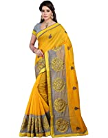 Bunny Sarees Cotton Saree (Alh5002_Yellow)