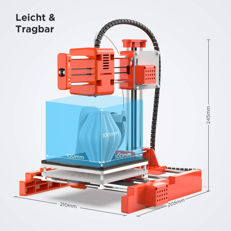 3D Drucker LABISTS Mini 3D Drucker DIY-Kit f/ür Anf/änger Kinder mit 10M 1,75 mm PLA-Filament Druckgr/ö/ße 100 x 100 x 100 mm magnetisch entfernbarer Platte