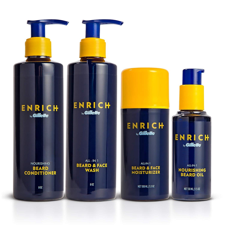 Gillette Enrich Beard & Face Care Starter Kit for Men