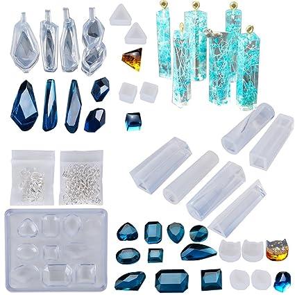 e1c8bbff443b ★26formas Molde Silicona Resina Joyería Joya Collar Molduras Fabricación de  DIY Colgante Collar Pendiente Creativo Bricolaje