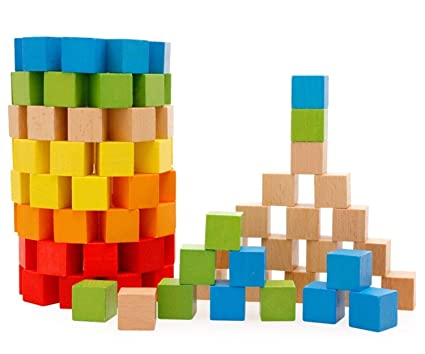 Amazoncom Lewo Wooden Building Blocks Games Children Educational
