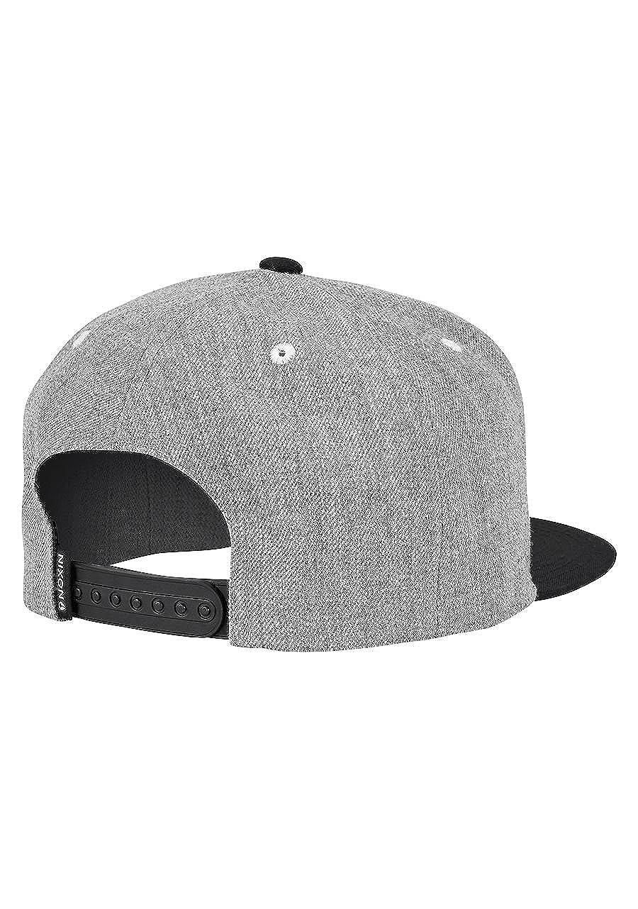 Amazon.com  NIXON Simon Snapback Hat Heather Grey Black White  Clothing 8e23ed400e4f