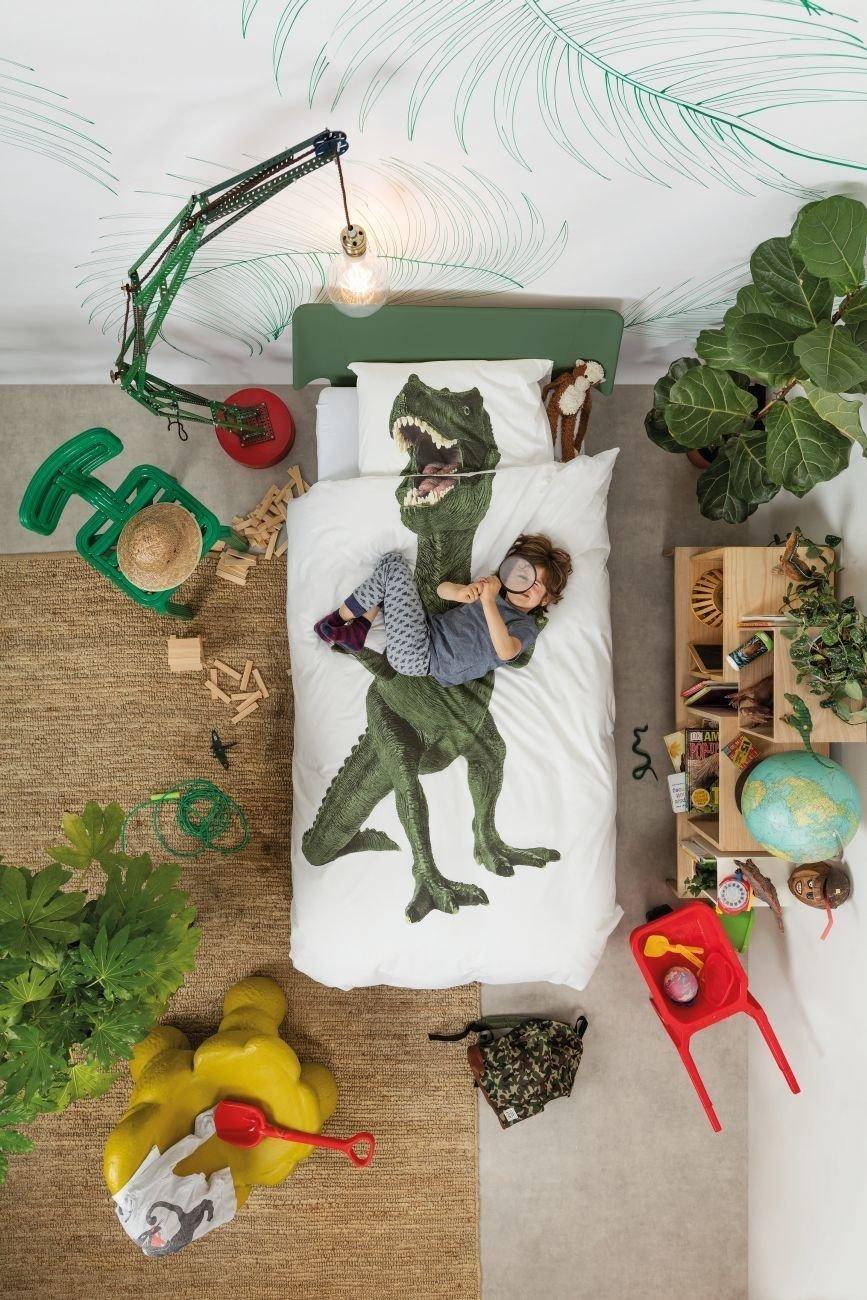 Kinder Bettw/äsche Dinosaurier T-Rex von Snurk 135 x 200 cm