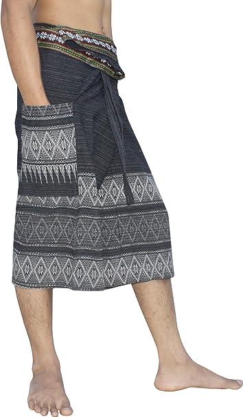 Amazon.com: RaanPahMuang - Pantalones cortos de algodón con ...