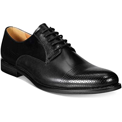 Bar III Men's Jamie Perforated Plain-Toe Oxfords Shoes, Black (11) | Oxfords
