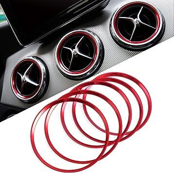 WOVELOT Car Rear Air Conditioning Vent Decorative Frame Trim Car Style For Mercedes C Class W204 2008-2013 Carbon Fiber Style