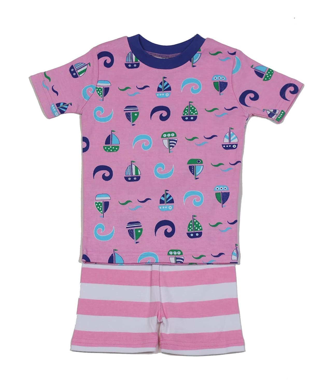 a0737b3b57d3 Amazon.com  New Jammies Organic Cotton Short Pajama Set  Clothing