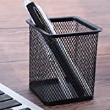 Worthy Shoppee Classic Metal Square Mesh Pen Stand