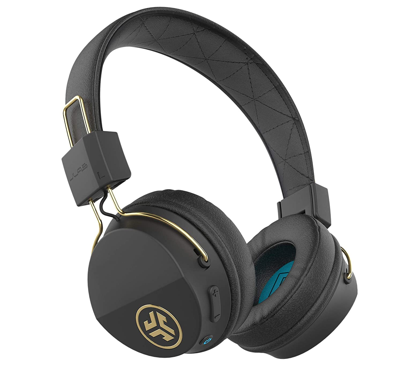 JLab Audio Studio ICON Bluetooth Wireless On-Ear Headphones | Ultra-Plush Cushions | Wireless Headphones | 13 Hour Bluetooth Playtime | 40mm Neodymium Drivers | Track Control | Microphone | Black Gold