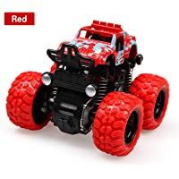 Mqfit Monster Trucks Friction Powered Cars Big Rubber Tires for Kids ( Randm Colors )