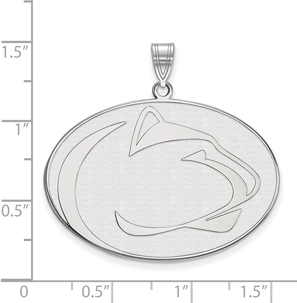Solid 925 Sterling Silver Official Penn State University XL Extra Large Big Pendant Charm 33mm x 36mm