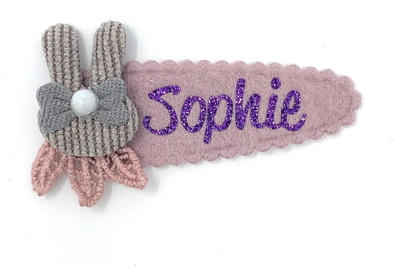 Une Jolie Violet Scintillant Imprimé Barrette Pince à cheveux
