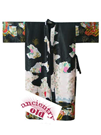 Amazon.com: Women Chinese Traditional Silk Robe Vintage Kimono Gown Novelty Printed: Clothing