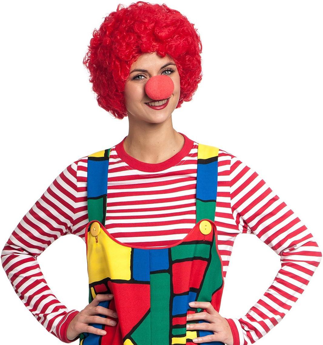 Clown Perücke Afro pink Clowns Perücken Clownsperücke Zirkus Kostüm Clownperücke