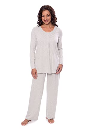884f35db4f Texere Women s Long Sleeve Pajama Set - Stylish Cozy Pajamas for Her ...