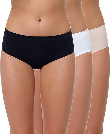 Yenita® - Braguita Seamless sin Costuras para Mujer, Pack de 3: Amazon.es: Ropa y accesorios