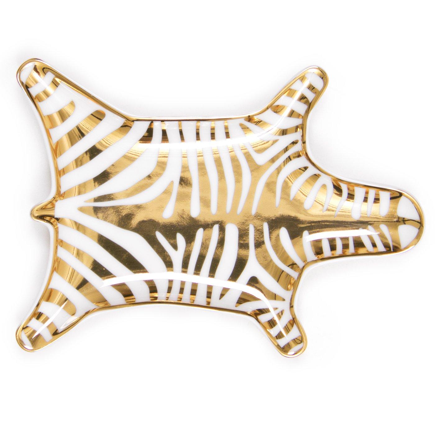Jonathan Adler Metallic Zebra Dish, Gold