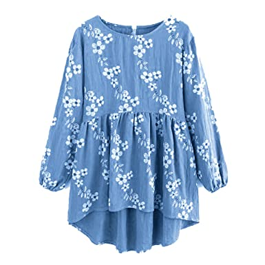 Yakke Women Peplum Tops and Blouses Spring 2018 Fashion Long Sleeve Blouse Ruffle O Neck Irregular